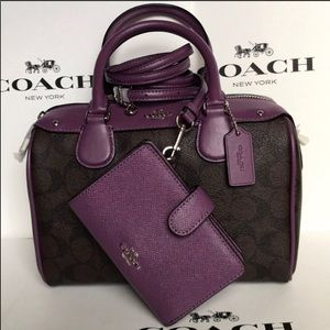 Beautiful berry/plum coach purse and wallet